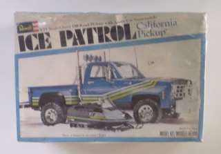 ICE PATROL Chevy Truck w Snowmobile 125 Revell SEALED