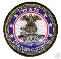 USS JOHN C. STENNIS CVN 74 NAVY MILITARY SHIP PATCH