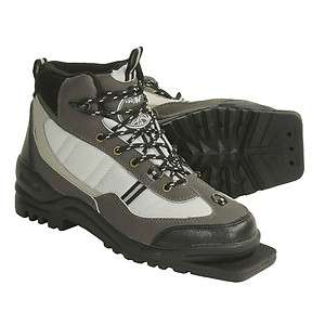 New Whitewoods 301 75mm 3 Pin CROSS XC COUNTRY SKI BOOTS Sz 42 Gry/Blk