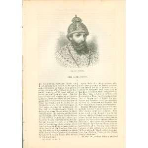1883 Romanoff Czars & Czarinas of Russia illustrated