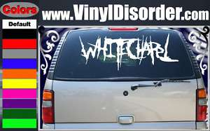 Whitechapel Band Vinyl Car or Wall Decal Sticker LG