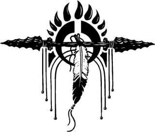 native american symbol decal sticker display your heritage with pride