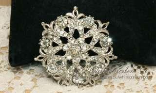 Crystal Rhinestone Bridal Wedding Gown Bling Sash Belt Floral Bouquet