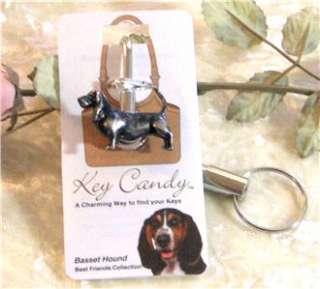 BASSET HOUND DOG BEST FRIEND KEY FINDER PURSE HOOK
