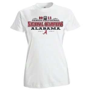 Alabama Crimson Tide Womens White 2011 BCS Football