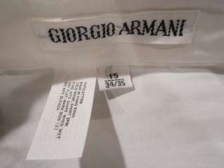 NwT GIORGIO ARMANI MENS DESIGNER WHITE DRESS SHIRT Sz 15 34/35