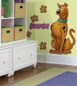 New GIANT SCOOBY DOO WALL DECALS Removable Stickers 034878094007