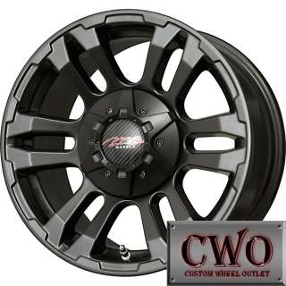 17 Black MB TKO Wheels Rims 6x139.7 6 Lug Chevy GMC 1500 Titan Tundra