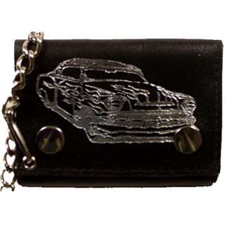 Chain Wallet Black Hot Rod Car Imprint #946 30 803698925095