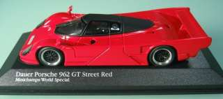 DAUER PORSCHE 962 GT STREET RED 143 MINICHAMPS WORLD SPECIAL