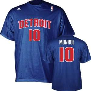 Greg Monroe adidas Blue Name and Number Detroit Pistons T Shirt
