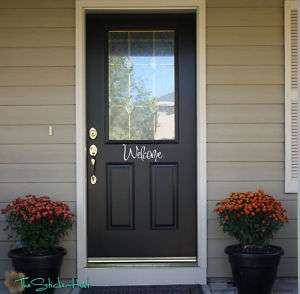 Welcome Front Door Vinyl Decals Stickers 973