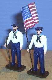 TOY SOLDIERS LEAD CIVIL WAR UNION FLAG SET 2PC 54MM