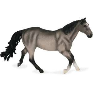 X Large Quarter Horse Mare Grullo Figure Toys & Games