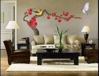 Magpie & Branches Decor Mural Wall Paper Sticker 026