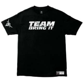 The Rock Team Bring It SMALL DOG BIG BITE WWE Authentic Youth T Shirt