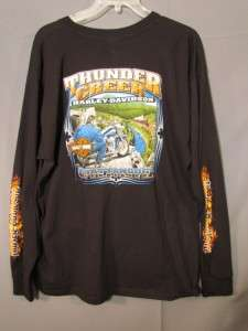 Harley Davidson Shirt Thunder Creek Chattanooga,TN Long Sleeve T sz