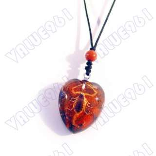 FINE Jewelry Amber Real SCORPION KING Necklace/Pendant