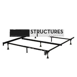 Metal Bed Frame with Center Support and Glides Only   (Queen, Fu