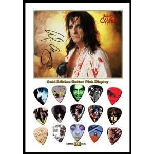 Alice Cooper New Gold Edition Guitar Pick Display With 15