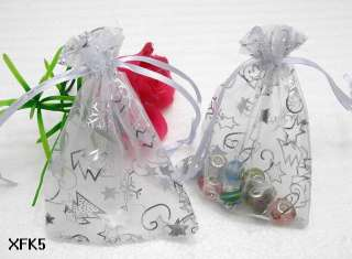 Assorted color Wedding gift favor bags jewelry organza X mas candy