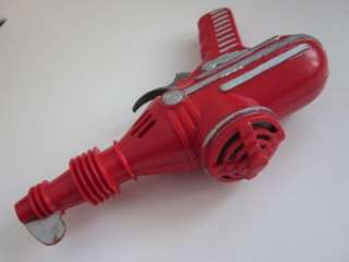 early old IDEAL Space Ray Gun Laser Red Hard Plastic Toy *WOW* |