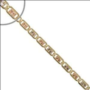 14k Tricolor Gold, Valentino Gucci Mariner Link Chain Bracelet 120