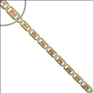 14k Tricolor Gold, Valentino Gucci Mariner Link Chain Bracelet 120