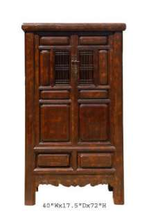 Elegant Chinese Antique Solid Wood Tall Cabinet aWK1515