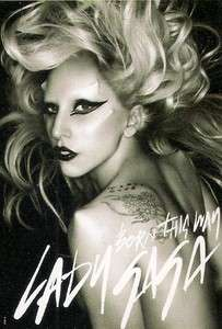 WHITE LADY GAGA BORN THIS WAY HARD ROCK MUSIC POSTER 40 X 28