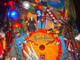 ADDAMS FAMILY PINBALL MACHINE W/ LEDS, FESTER, BEAR, KNIGHT, VAULT