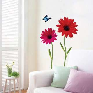 Flower Daisy Self Adhesive WALL STICKER Removable Decal