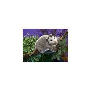 Stuffed Opossum Puppet With Full Body By Folkmanis Puppets