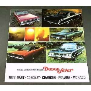 1968 68 DODGE Fever BROCHURE Dart Charger Coronet Everything Else