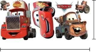 DISNEY CARS Vinyl Wall Sticker Decal   Set of 6 #005