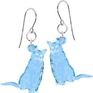 Light Blue Itty Bitty Burmese Kitty Cat Earrings Jewelry