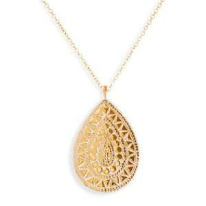 Anna Beck Papua Mosaic Teardrop Long Pendant Necklace