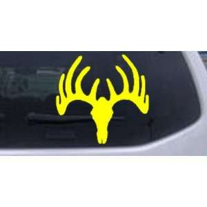 6in X 6.2in Yellow    Deer Skull Mount Hunting And Fishing