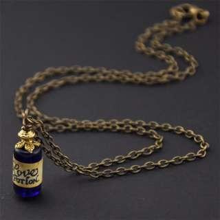 Vintage LOVE POTION Bottle Charm Necklace,Little,Quirky