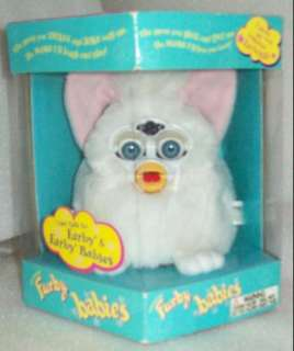 Furby baby.White,pink ears,blue eyes. UPC 050626012505