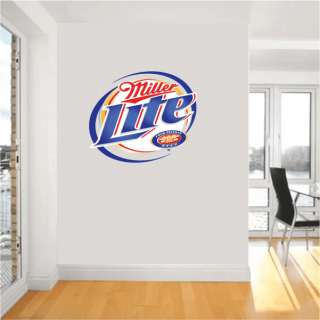 Miller Lite Beer Alcohol Bar Wall Decor Sticker 24Long