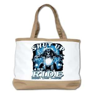 Shoulder Bag Purse (2 Sided) Tan Shut Up And Ride Nobody