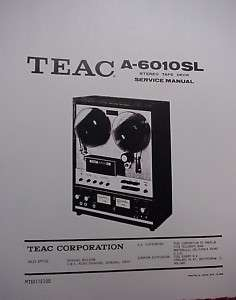 TEAC A 6010SL TAPE DECK SERVICE MANUAL 86 pages