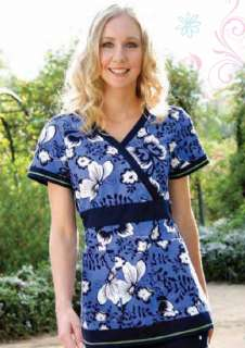 NEW KOI WOMENS DESIGNER NURSING UNIFORMS RYLEE ZOE SCRUB TOPS CUTE