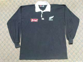 EUC CANTERBURY STEINLAGER NEW ZEALAND ALL BLACKS RUGBY JERSEY SHIRT L