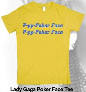 LADY GAGA T Shirt monster ball tour, Poker face T shirt