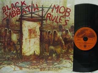 SABBATH   Mob Rules LP (RARE German Import on Vertigo, w/DIO)