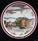 Vintage VERNON KILNS Pottery San Juan Capistrano CA MIssion PLATE 9