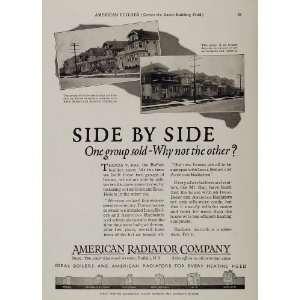 1925 Ad ARCO American Radiator Houses Buffalo New York
