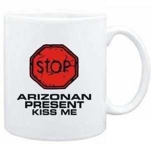 Mug White  STOP  Arizonan START KISSING  Usa States